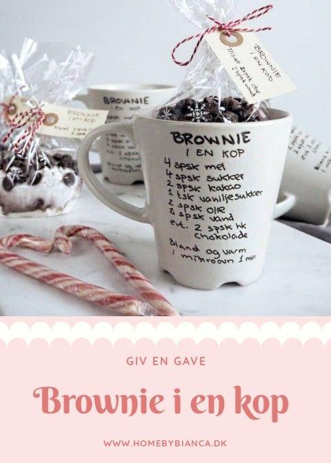 Brownie i en kop #hjemmelavedegaver
