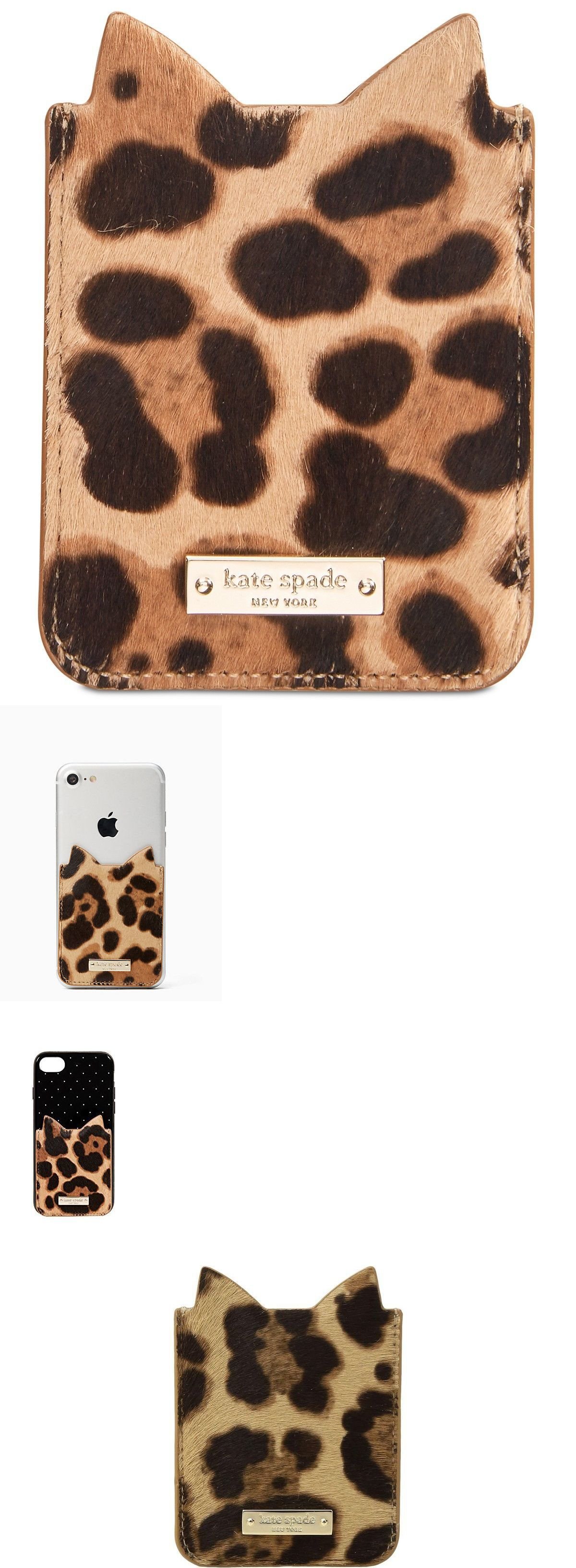 Faceplates Decals And Stickers 20373 New Kate Spade Cat Sticker Pocket Leopard Print Calf Hair Phone Card Holder 38 Buy It Phone Card Phone Stickers Phone [ 3261 x 1200 Pixel ]