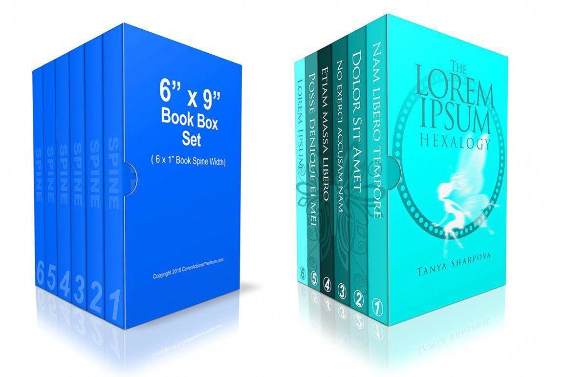 Download 6 Book Box Set Mockup 6x9 Mockup Ease Turning Set Howtophotoshopstepbystep Book Box Mockup Photoshop Mockup Free Psd