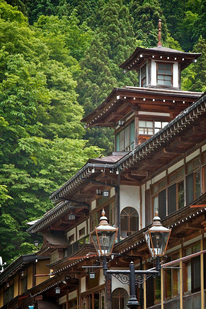 Ginzan Onsen Hot Springs, Yamagata, Japan 銀山温泉