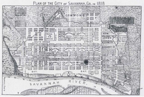 S Howell Plan Of The City Of Savannah Georgia 1818 Savannah Chat City Antebellum South