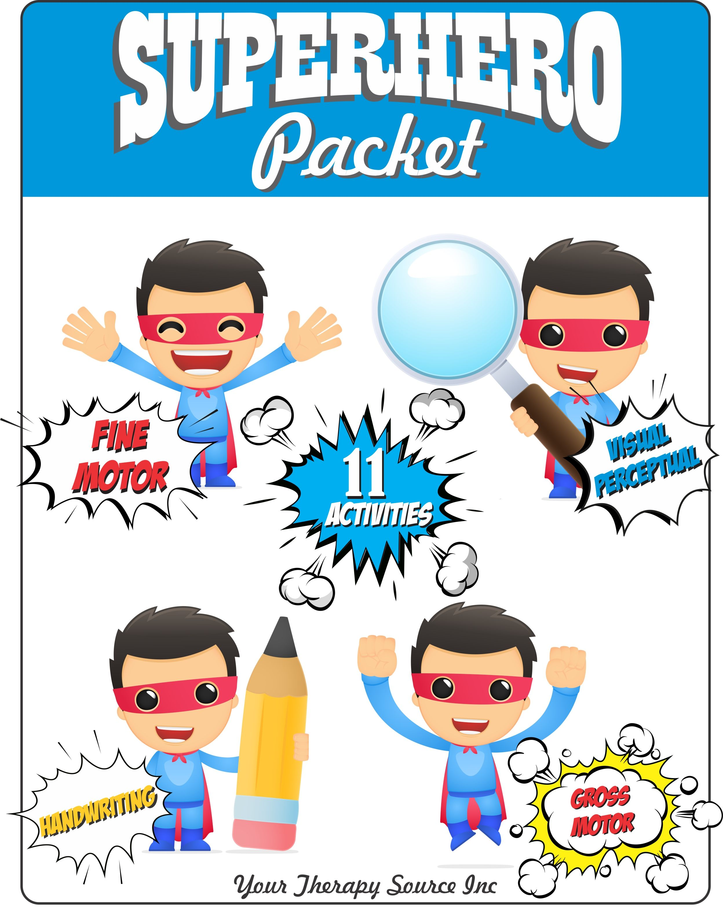 Superhero Packet With Images