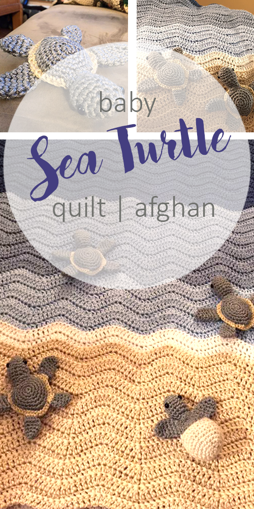 Baby Sea Turtle Crocheted Blanket | Manta, Cobija y Colchas