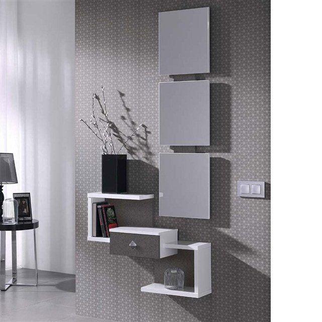 Meuble d 39 entr e miroir design olivia hall d 39 entr e meuble entr e meuble rangement et - Meuble d entree miroir ...