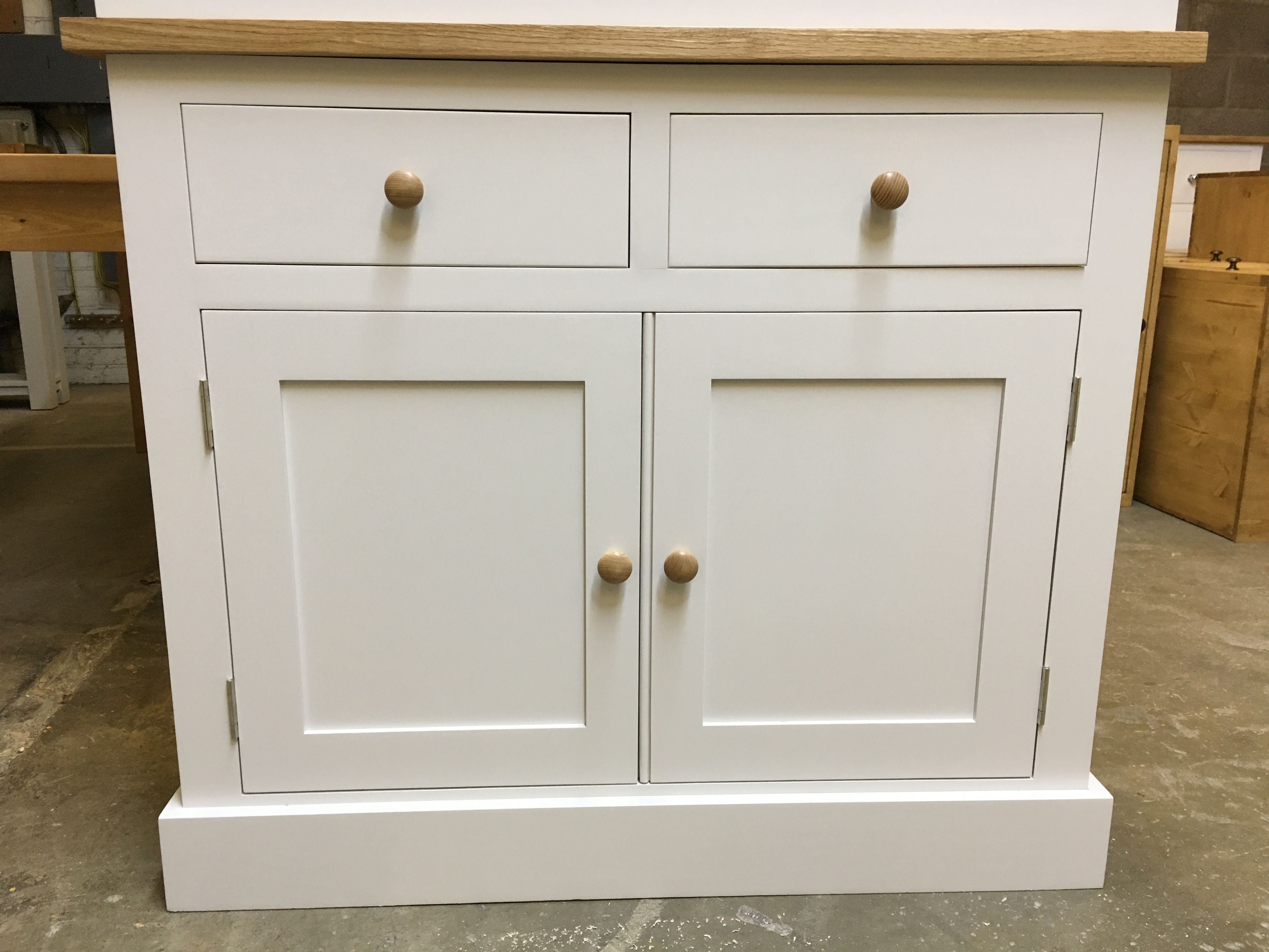Small Sideboard With An Oak Top. Cobwebs Furniture Company.
