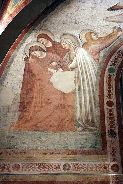 Pietro da Rimini - Crocifissione, dettaglio - affresco staccato - 1310-1320 - Museo Nazionale di Ravenna