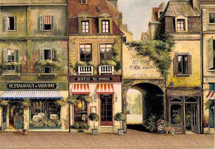 Fabrice De Villeneuve Rue De Paris Cafe De Paris Rue