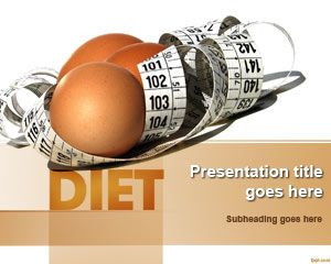 diet and nutrition powerpoint template health