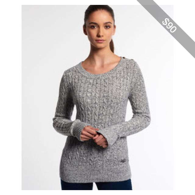 Cheap Usa Stockist Croyde Twist Cable Crew Neck Jumper Superdry Classic 2018 Newest For Sale Outlet In China Cheap Fashionable 2nHjeihqM