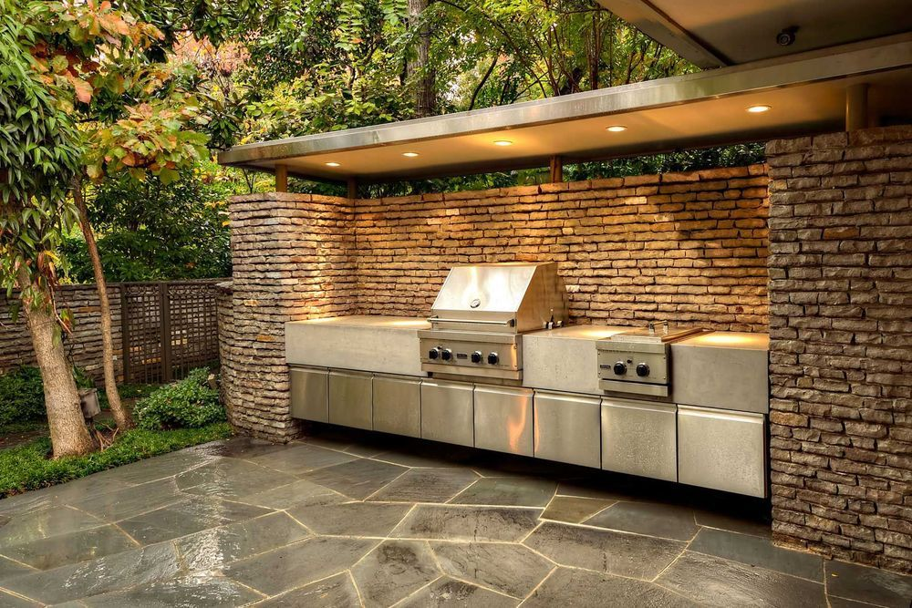 grill enclosures outdoor kitchens usa pavers of tampa bay inc rh pinterest com