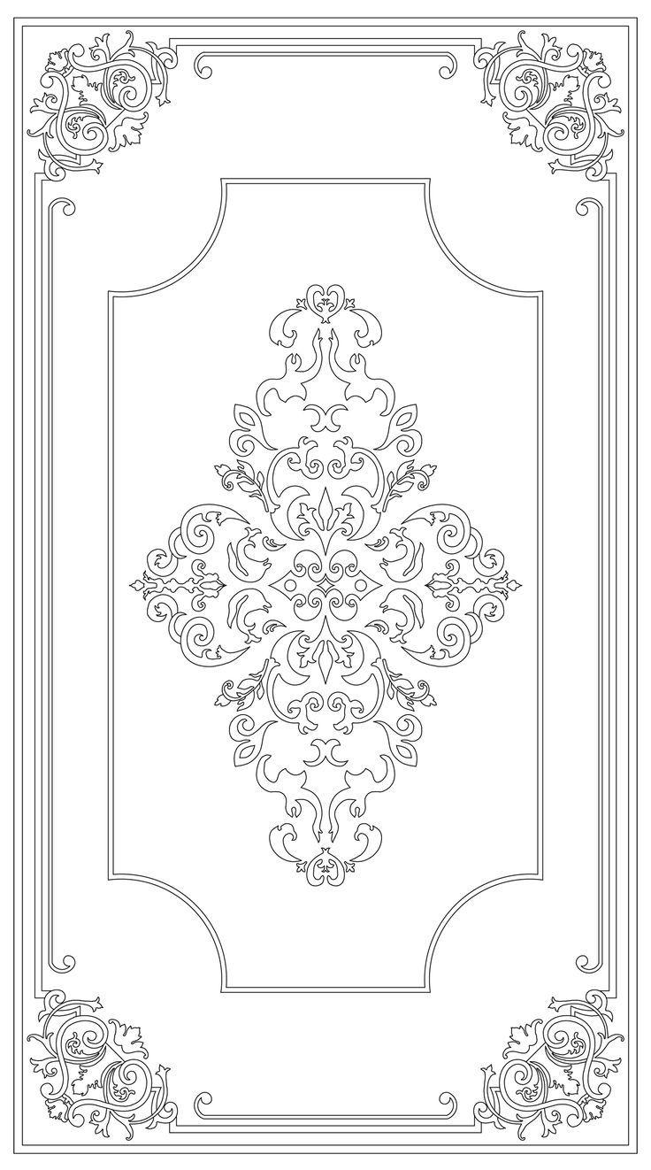 Pin Von Ros Auf Schablonen Schablone Designs Ornamente Vorlagen Barock Muster