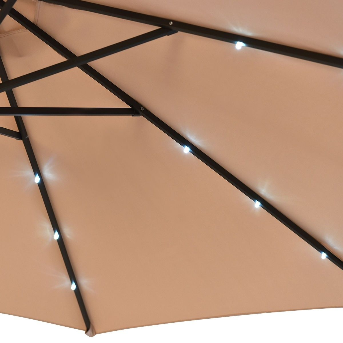 10 Patio Hanging Umbrella Sun Shade With Solar Led Lights Solar Led Lights Solar Led Solar Powered Led Lights