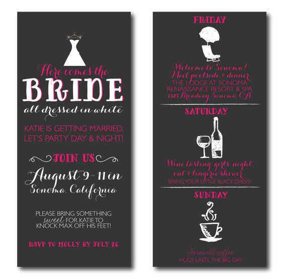 Wine Tasting Weekend Bachelorette Party Invitations By