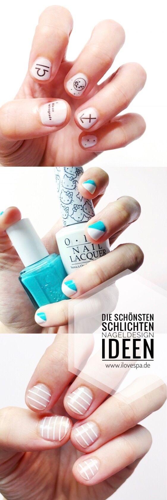 Die Ideen für schlichte Maniküre bei kurzen Nägeln! Minimal Manicure ...