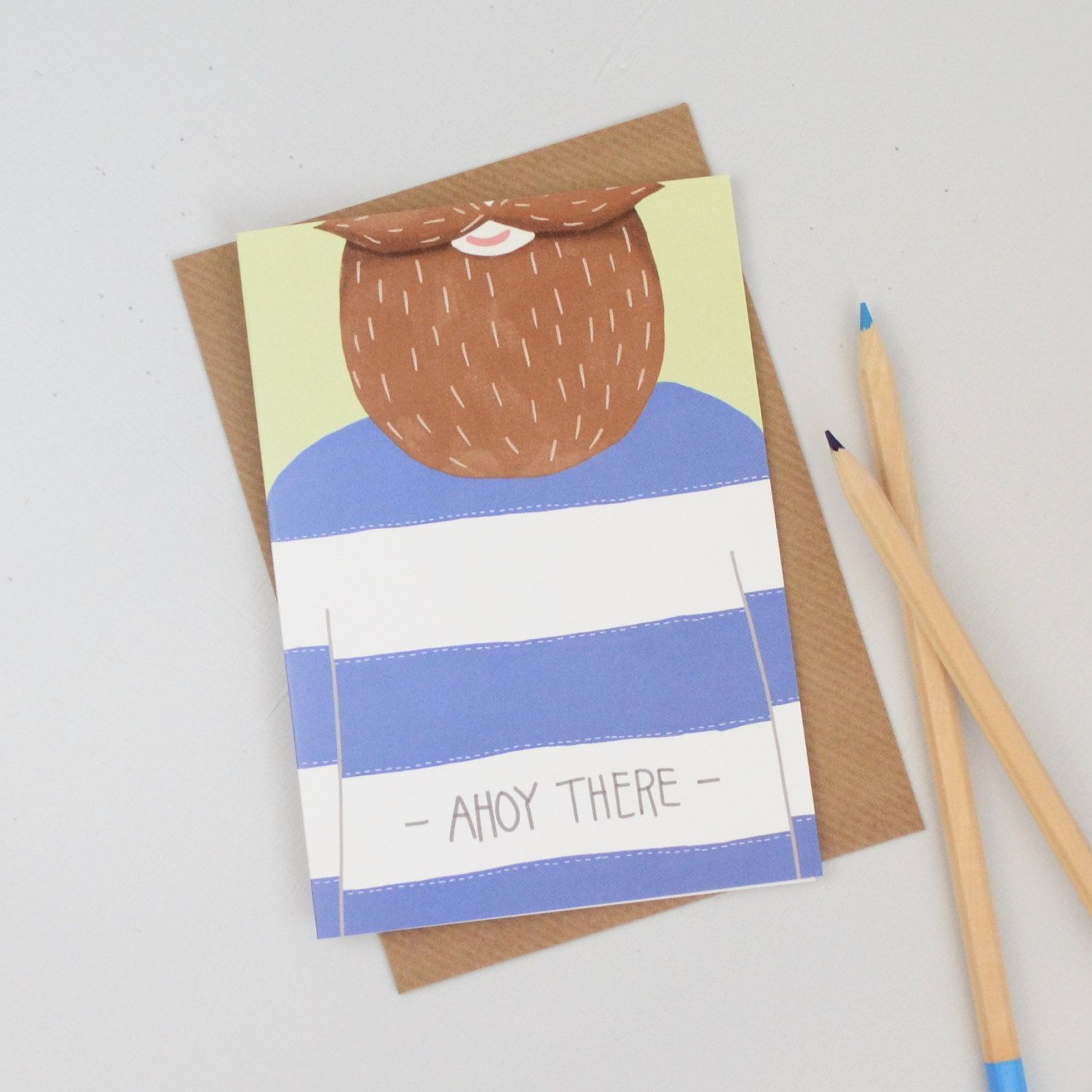 New To Hannahstevensshop On Etsy Sailor Card Ahoy There Birthday