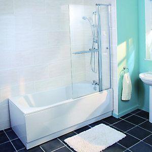 Wickes Keyhole Shower Bath White 1700mm Shower Bath Wickes White Paneling