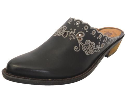 western style clogs for women   New Lucky Brand Womens Claire Western Style  Boots Clogs Mules