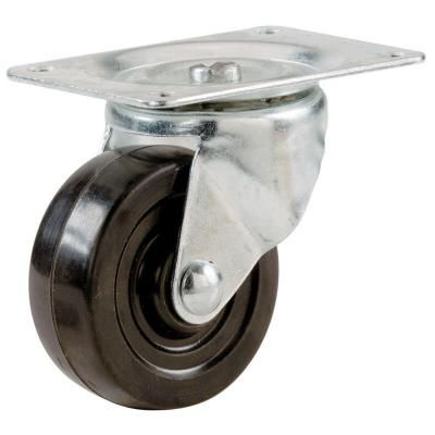 Shepherd 2 1 2 In Rubber Wheel Swivel Plate Caster 9478 At The Home Depot Rubber Casters Caster Swivel Casters