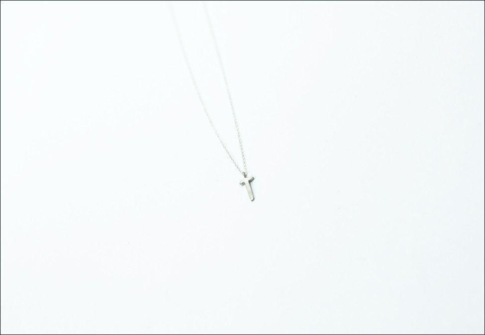 """Long Aleph"" Arabic Letter Necklace"
