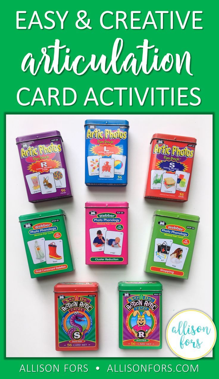 Easy and creative articulation card activities for speech therapy! Low prep ways to keep your students motivated.