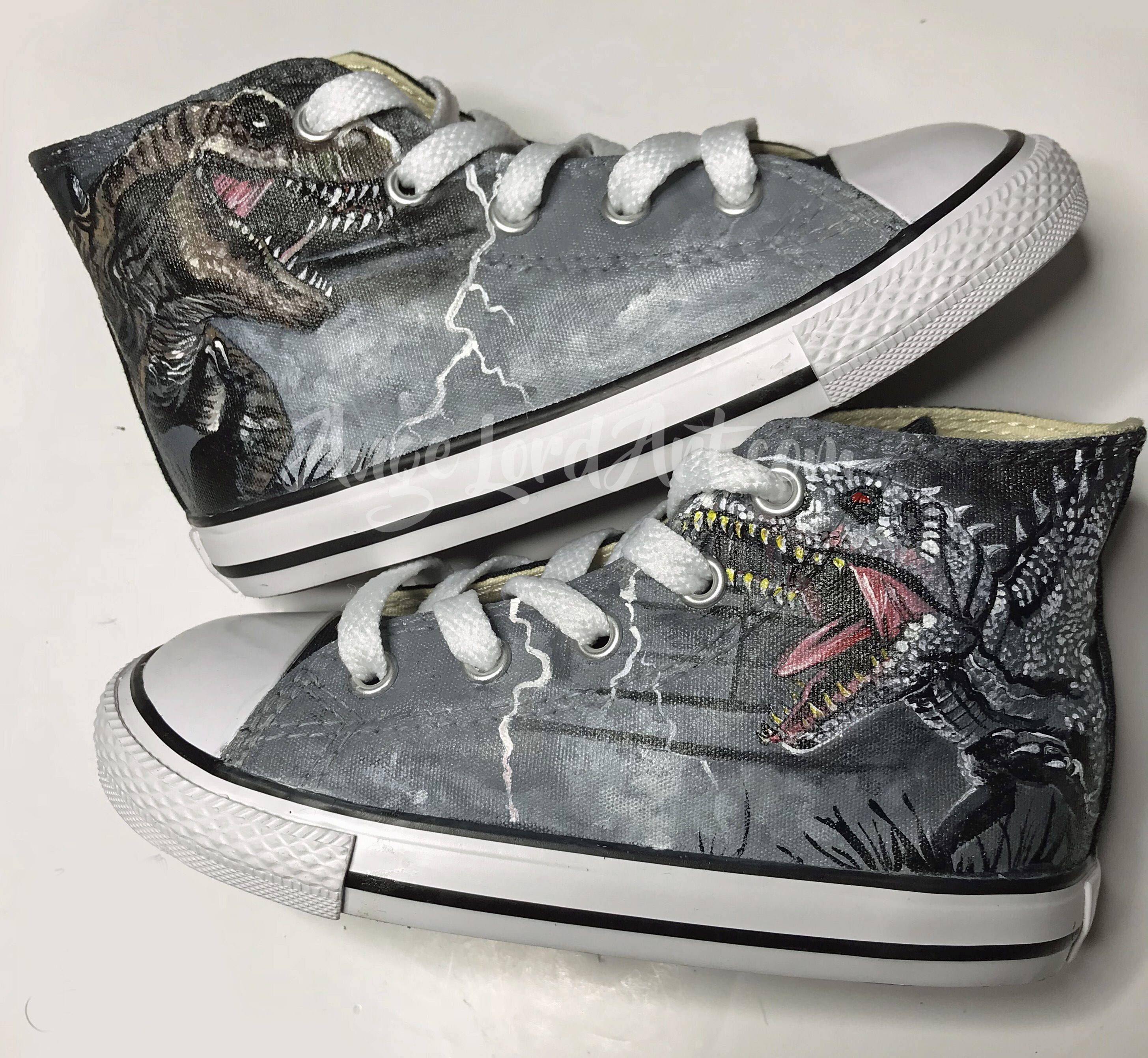 74794e3ccc82f Pin by Taylor McBride on Convers in 2019 | Dinosaur shoes, Painted ...