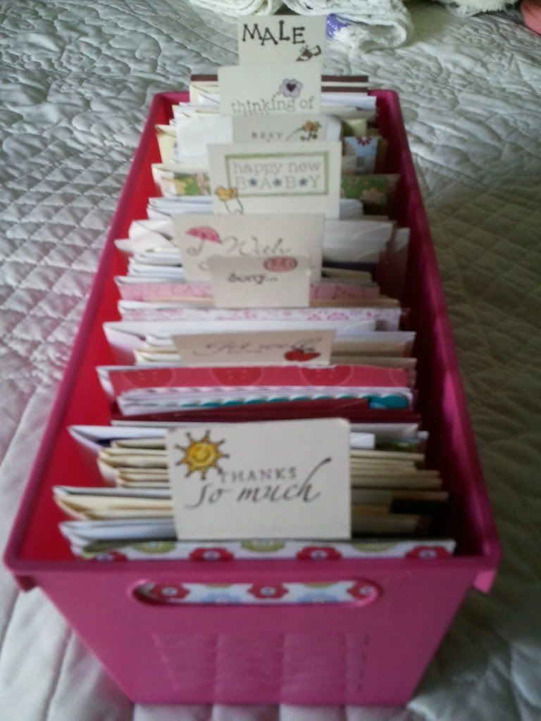 Greeting Card Organizer I Made With The Labeled Tabs Organization