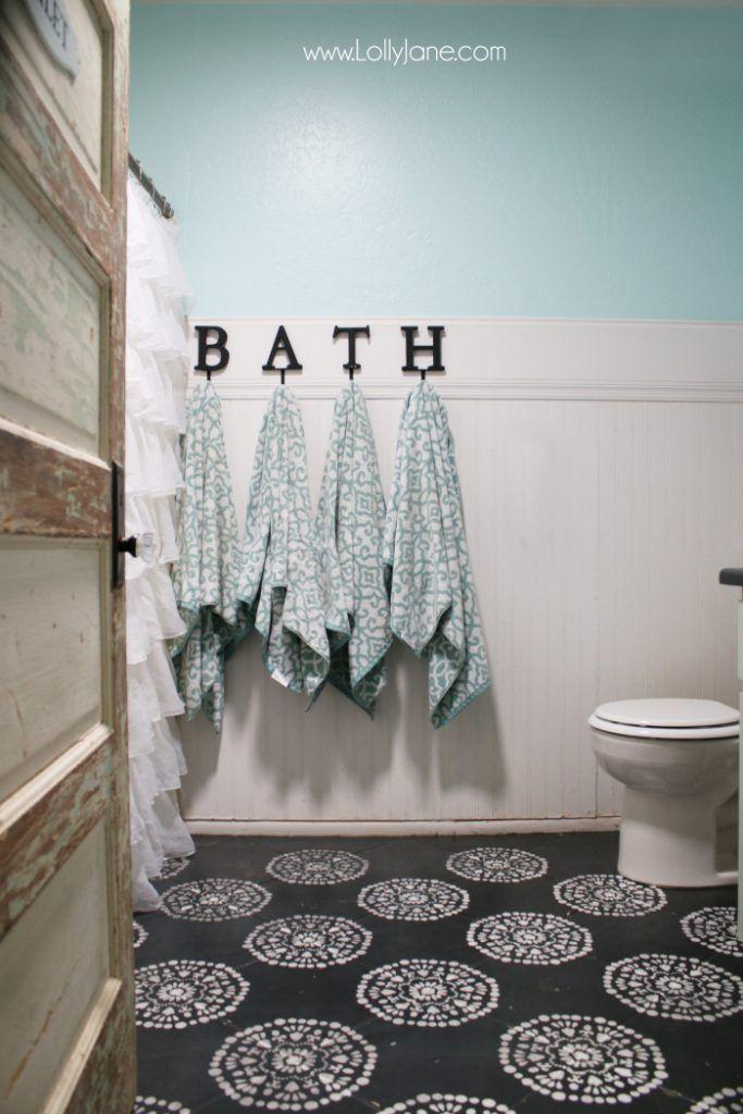 Hate Your Tile Floors Paint Them Pinterest Painted Tiles Tile