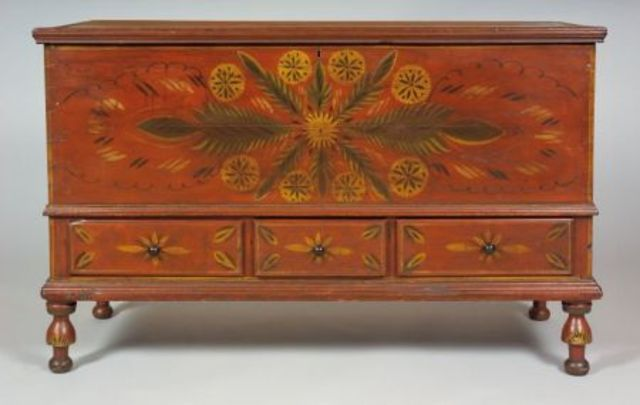Paint Decorated Poplar Dower Chest | Sale Number 2337, Lot Number 70 | Skinner Auctioneers