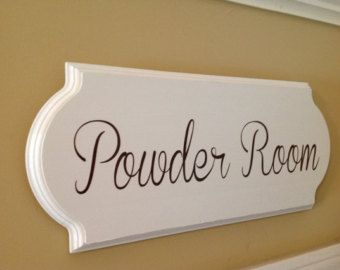 Great Powder Room Sign Bathroom Sign Bathroom Decor Wooden Sign