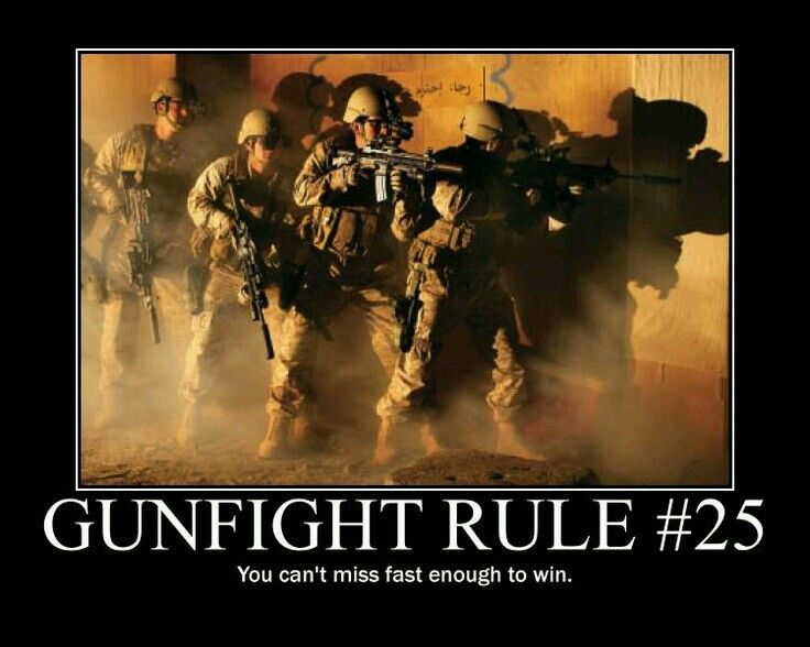 Gunfighter Rule 25 Hits Come From Practice The Only Way To Get