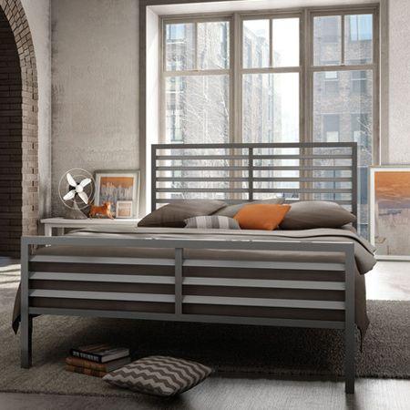 modern steel frame bed and headboard design - Steel Frame Bed