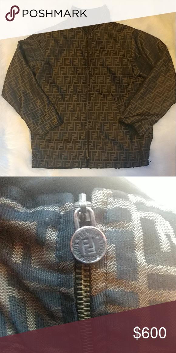 Fendi Vintage 90 S Fendi Zucca Sleeveless Dress Jacket Small Fendi Roma Jeans Fendi Monogram Italy Designer Wom Womens Vest Long Sleeve Tshirt Men Weird Shirts