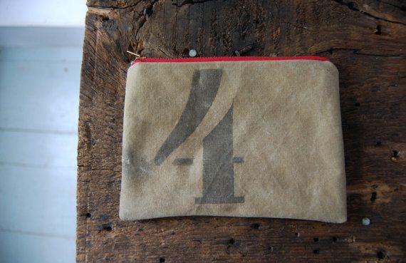 no. 4 zip pouch by enhabiten on Etsy