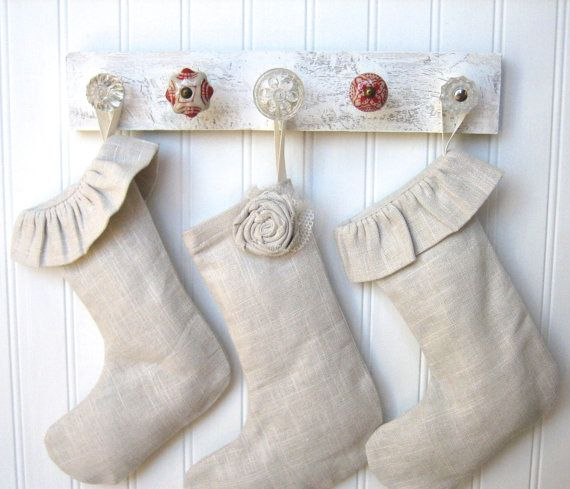 Like this Stocking Rack since our mantel is only a few inches deep. by AuntDedesBasement