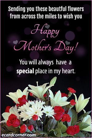 Sending Flowers Across The Miles On Mother S Day Ecardcorner Happy Mothers Happy Mothers Day Happy Chocolate Day