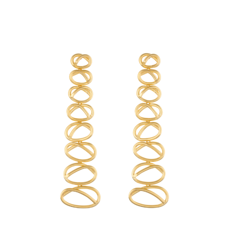 Gold-Plated Dangling Knot Earrings Joanna Laura Constantine codLub