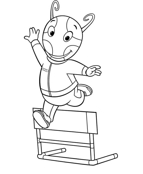 Uniqua Jump Over A Bench In The Backyardigans Coloring Page Kids Play Color In 2020 Coloring Pages Coloring Pictures Color