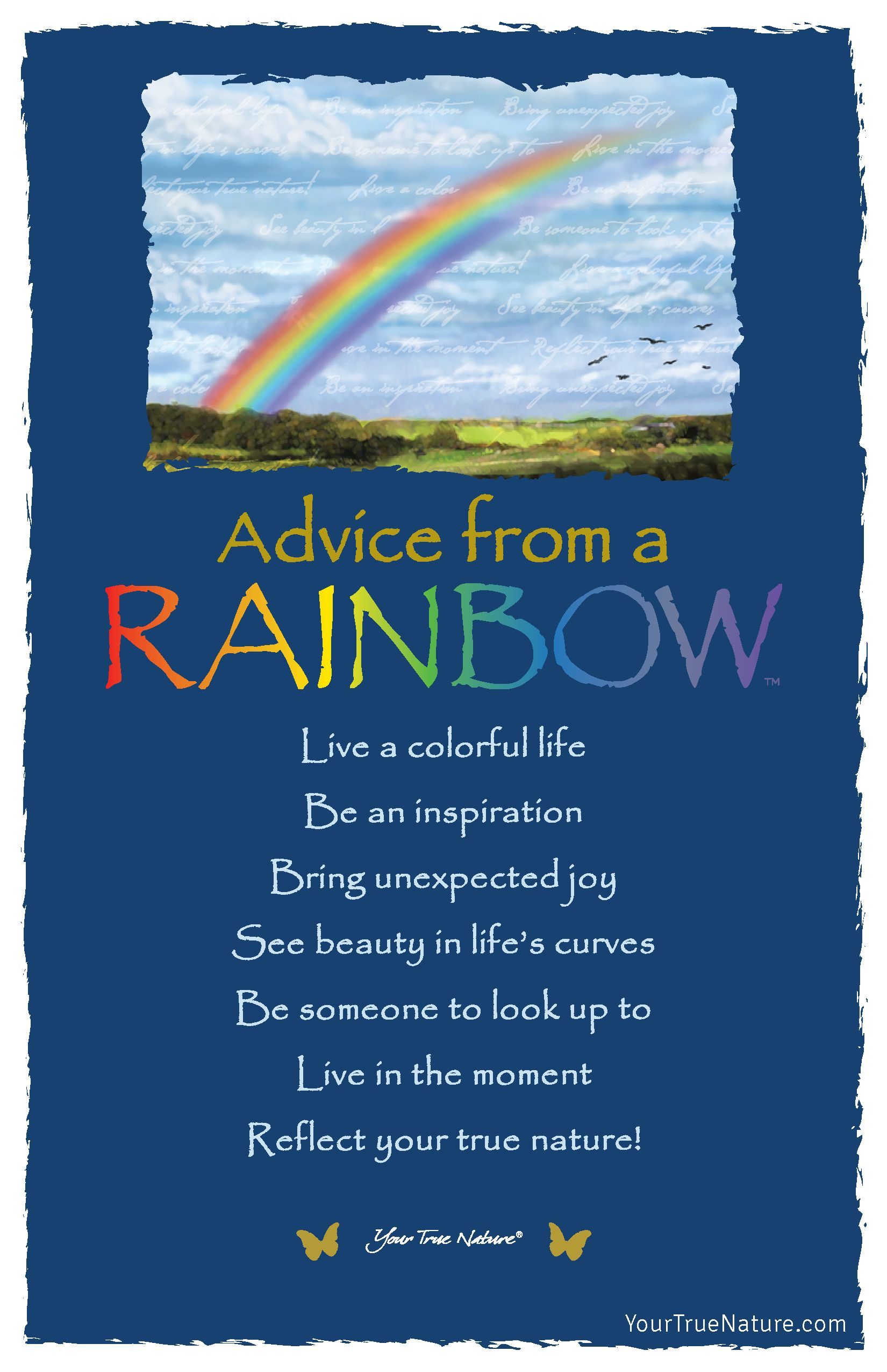 See Beauty In Life S Curves Advice From A Rainbow For The