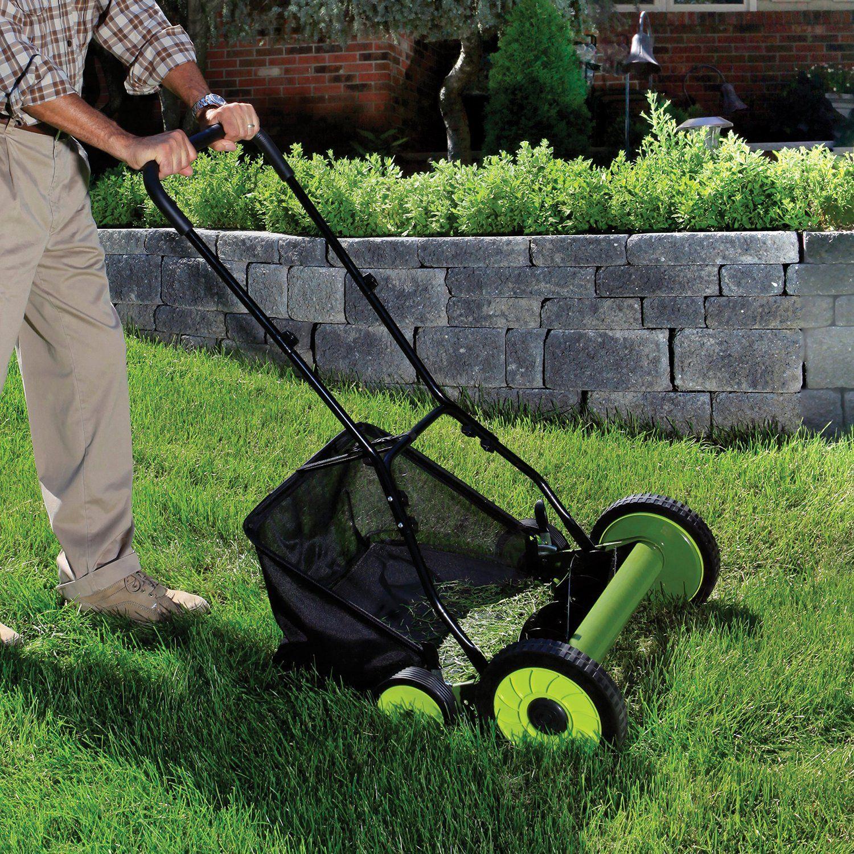 Robot Check Reel Mower Manual Lawn Mower Sun Joe