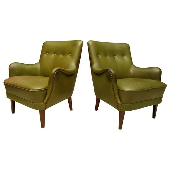 Green Leather Chairs
