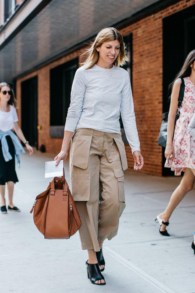 Street Style New York 2016 Tan Bags Habituallychic 07 Loewe Small Hammock Bag Looks