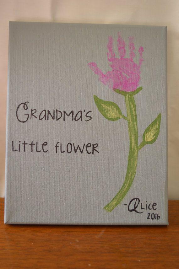 Just Add The Childs Handprint On This Flower Handprint