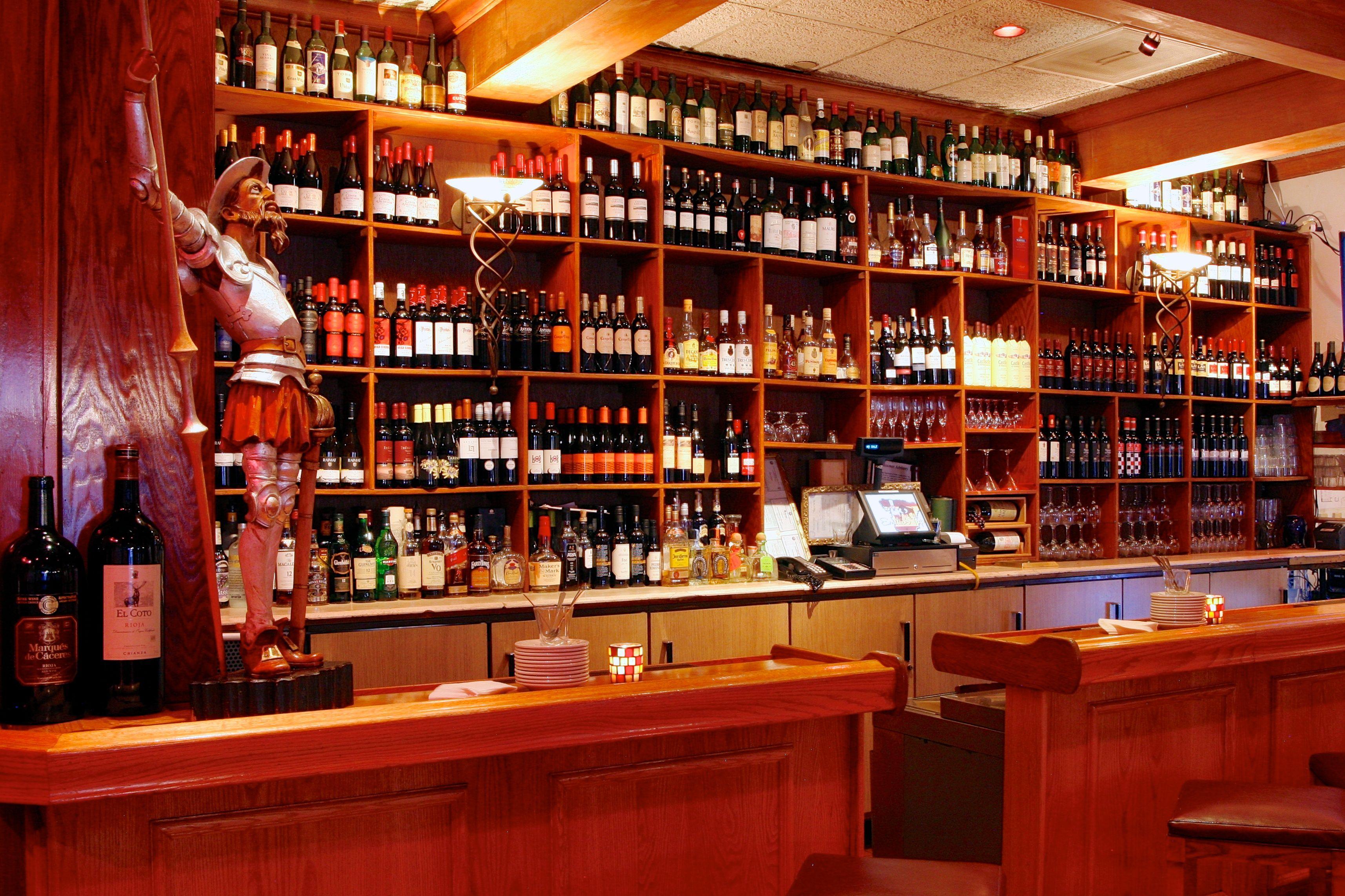 Our Bar Tapas Lunch Menu Liquor Cabinet