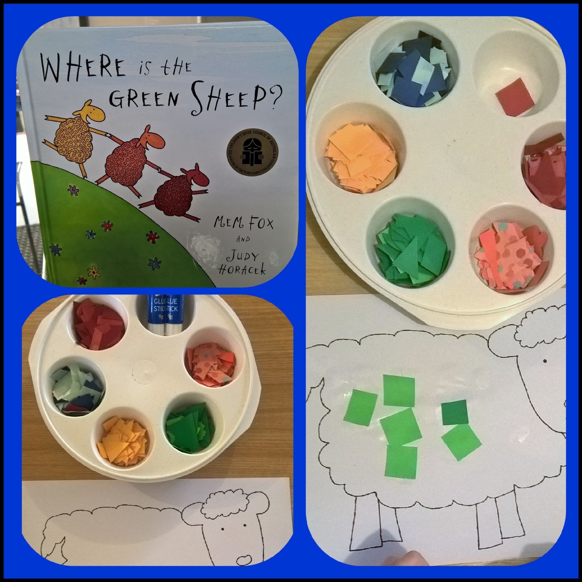 Where Is The Green Sheep Colour Activity Craft