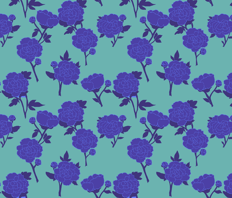 blue peony by lfntextiles - Floral/Nature-themed #bluepeonies blue peony by lfntextiles - Floral/Nature-themed #bluepeonies