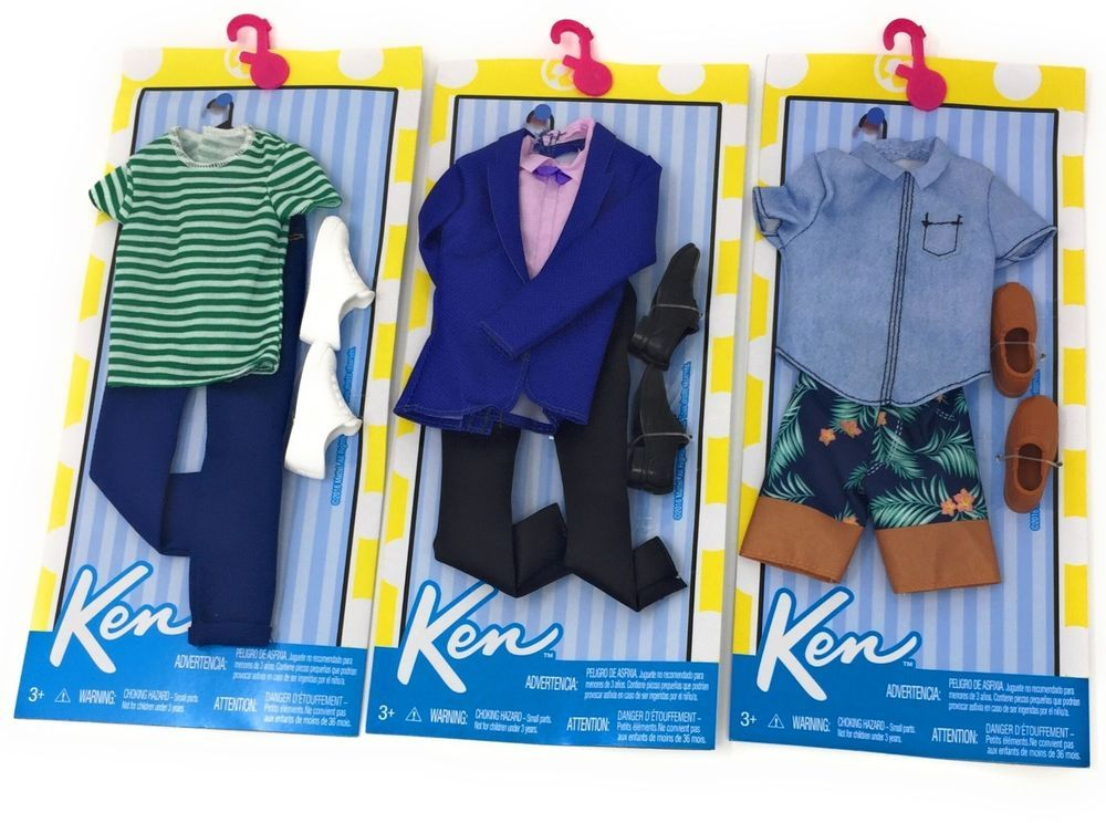 FASHION PACK SHORTS NEW 2020 KEN DOLL CLOTHES SHOES STRIPED SHIRT