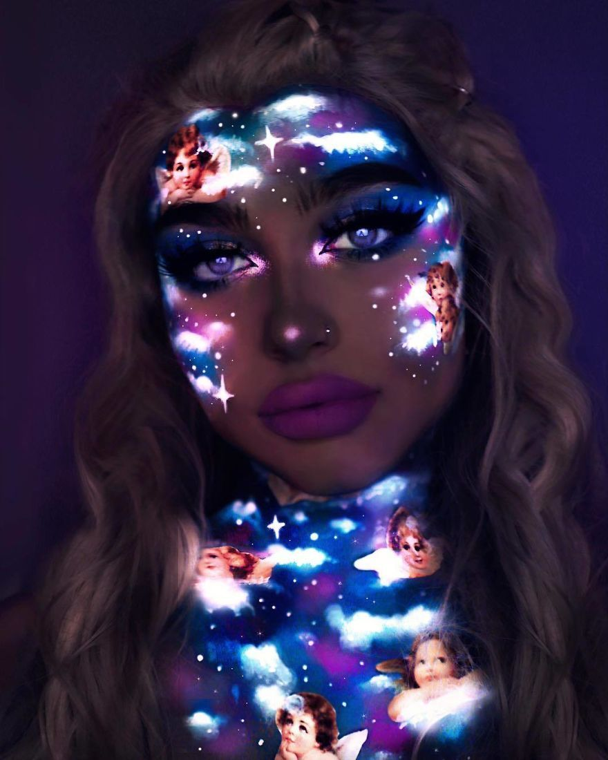 Photo of I Use Makeup, UV Paint And Light To Create Glow-In-The-Dark Looks (20 Pics)