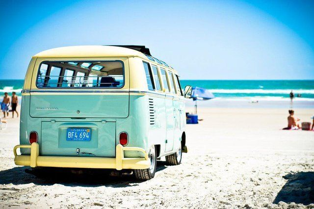 Blue Kombi on the beach!! :)