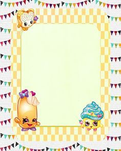 Crear Invitaciones De Shopkin Google Search Ideas Para El - Blank shopkins birthday invitations