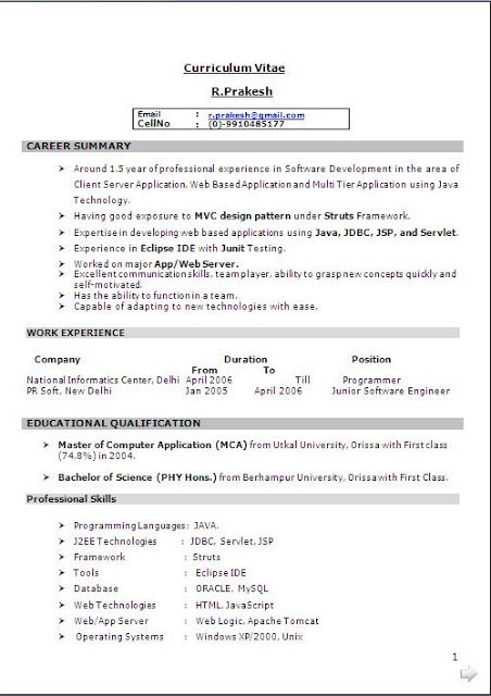 Best Resume Templates  Free Download Sample Template Excellent